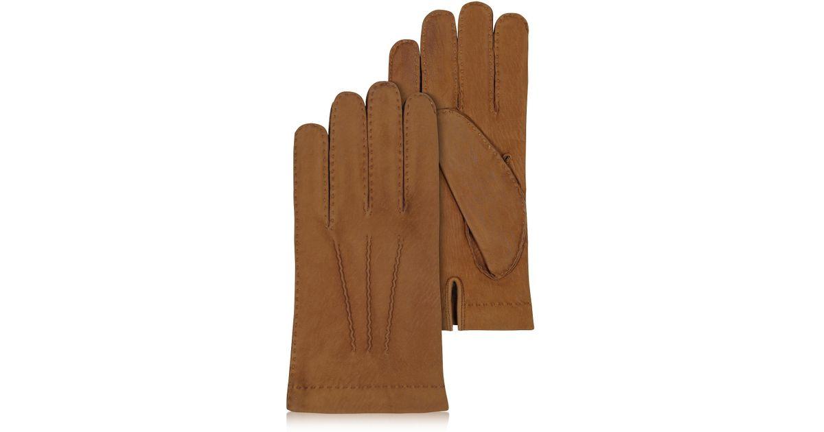 ff7a2284e05afd Lyst - FORZIERI Braune Herrenhandschuhe aus italienischem Leder in Braun  für Herren