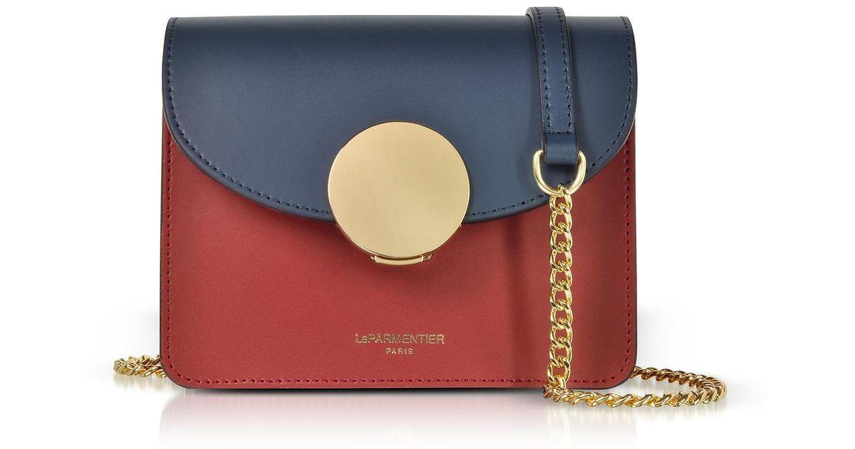 06e6369e5790 Lyst - Le Parmentier New Ondina Mini Color Block Shoulder Bag in Blue