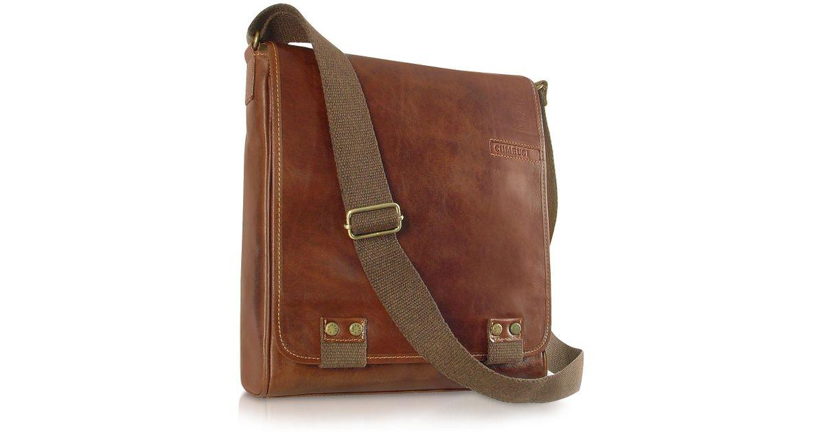 48607e958a95 Lyst - Chiarugi Handmade Brown Genuine Leather Crossbody Bag in Brown for  Men