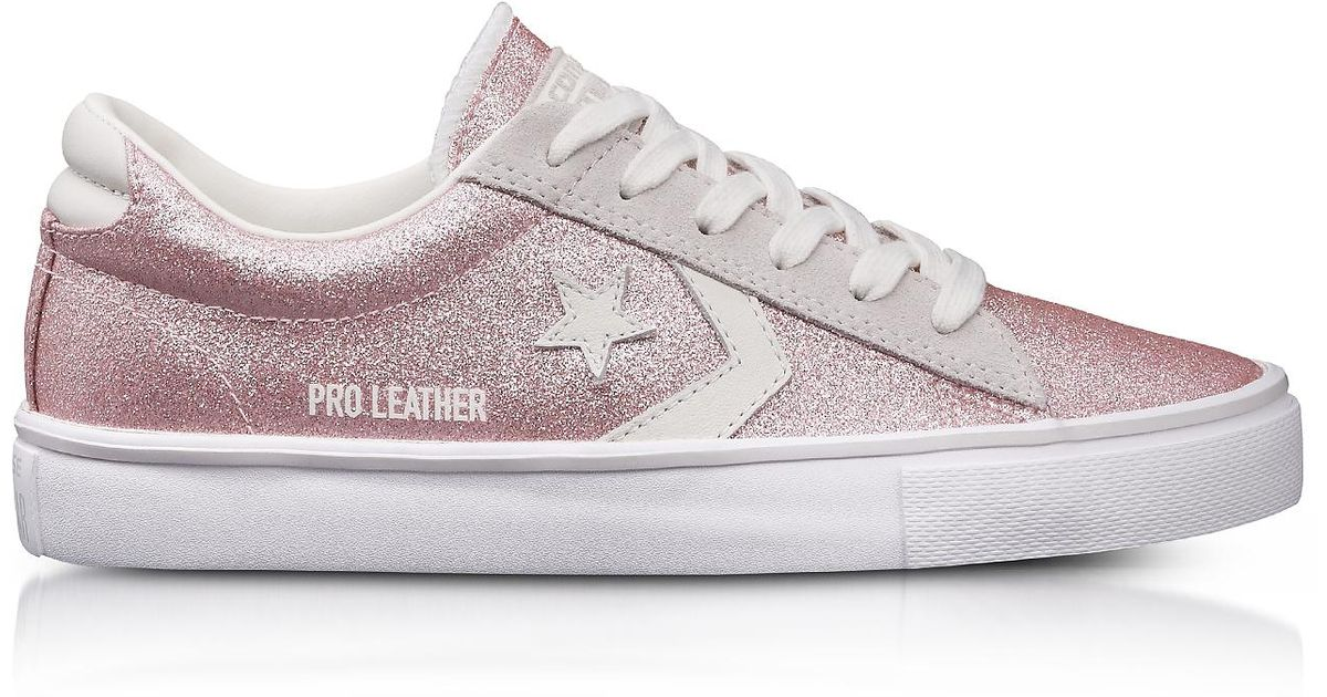 converse pro leather glitter