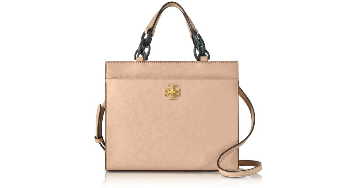 8de35cdf540c Lyst - Tory Burch Kira Leather Small Tote Bag in Natural