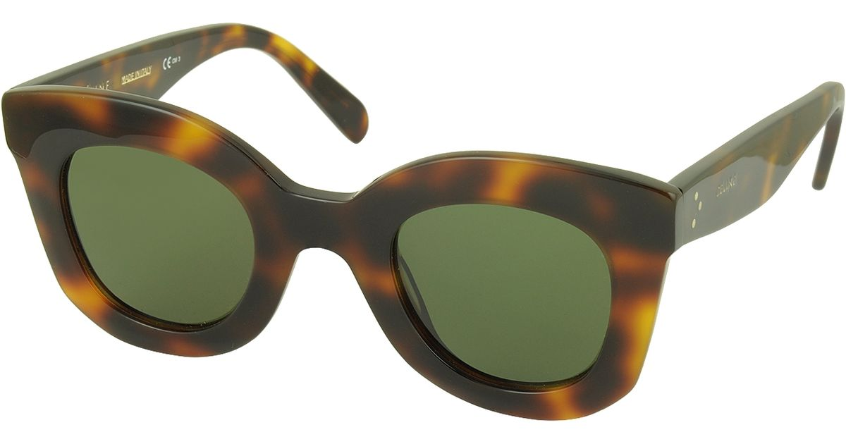 a1f89f4cfee9 Lyst - C Line Baby Marta Cl 41393 s Acetate Square Frame Women s Sunglasses  in Brown