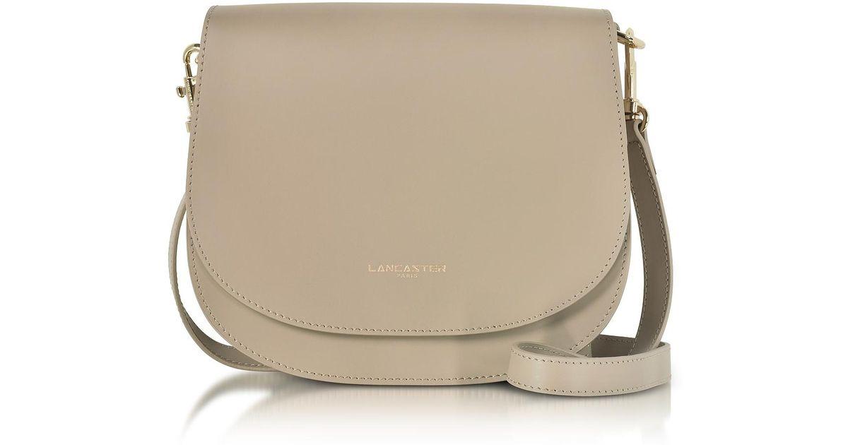 001c90b683c0 Lyst - Lancaster Paris Camelia Leather Crossbody Bag in Natural