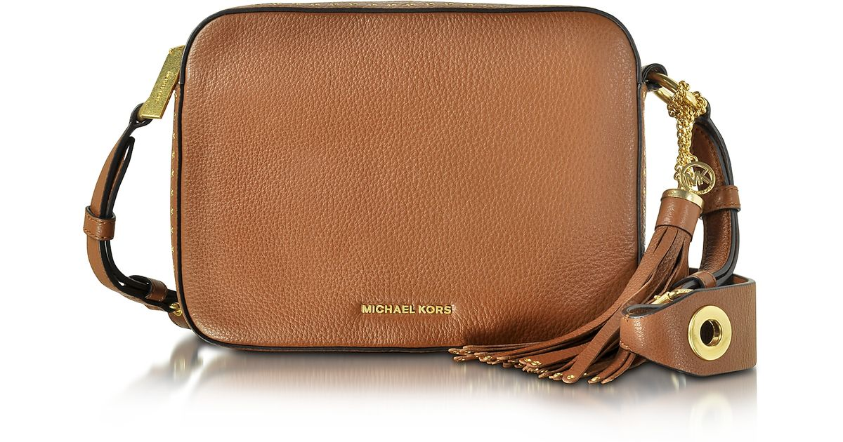 a121407605c427 Michael Kors Brooklyn Large Luggage Leather Camera Bag in Brown - Lyst