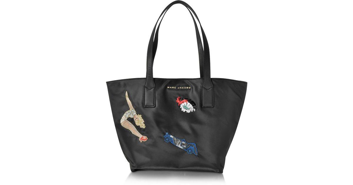 Marc Jacobs Vintage Collage Wingman Black Nylon Tote Bag in Black - Lyst cd58beef673f2