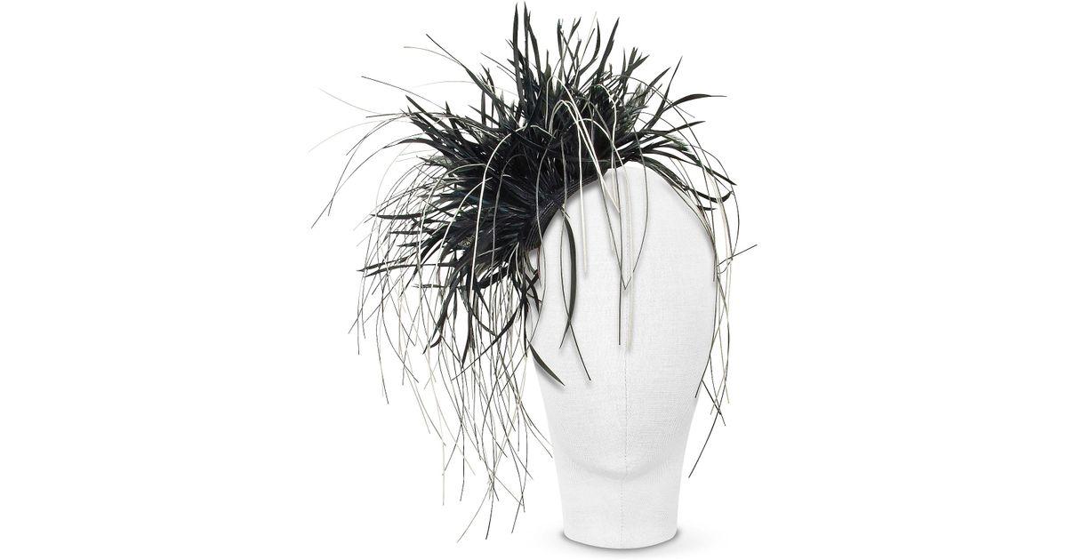 0b7cc1bc947 Lyst - Nana  Alicia - Black Feather Headdress in Black
