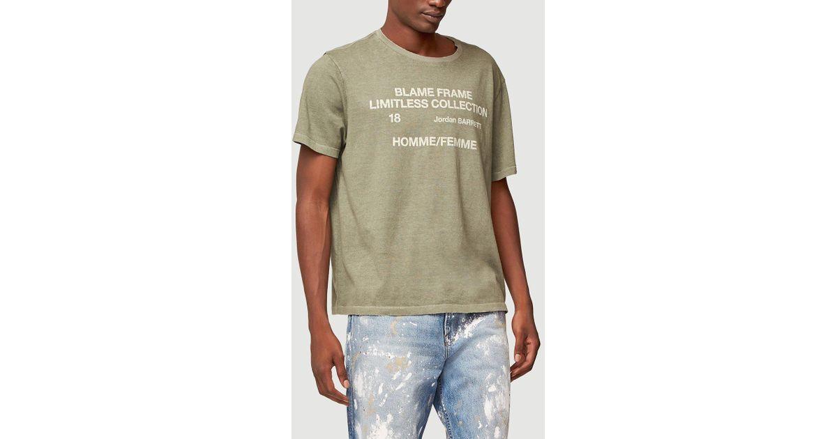 52e4993cef FRAME Blame Frame Short Sleeve Graphic Tee in Green for Men - Lyst