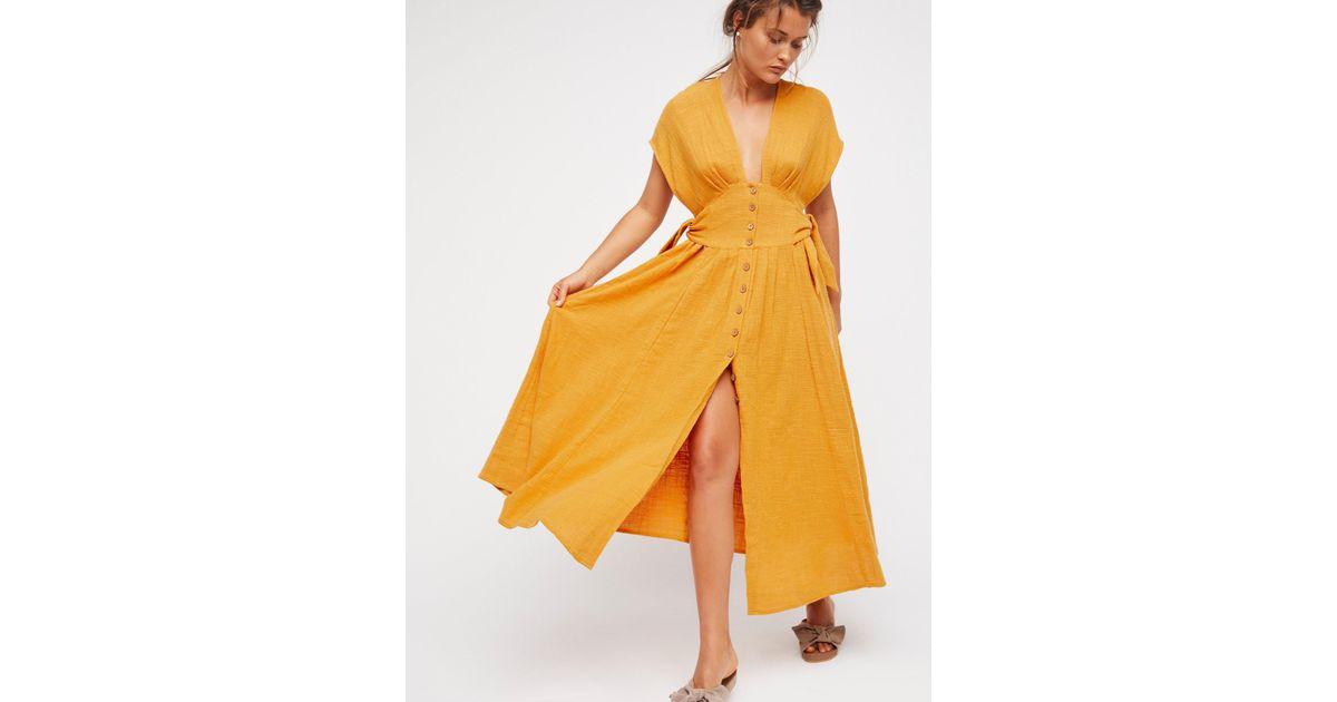 b0aa4f3fd572 Lyst - Free People Jacinta Midi Dress