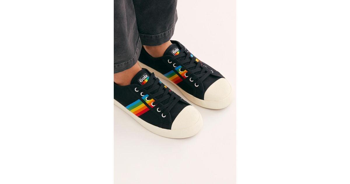 Canvas Gola Coaster Rainbow Sneakers