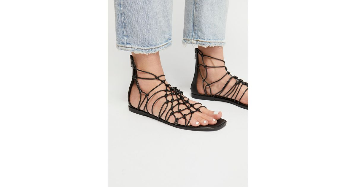 f0e28eca634e Lyst - Free People Forget Me Knot Sandal in Black