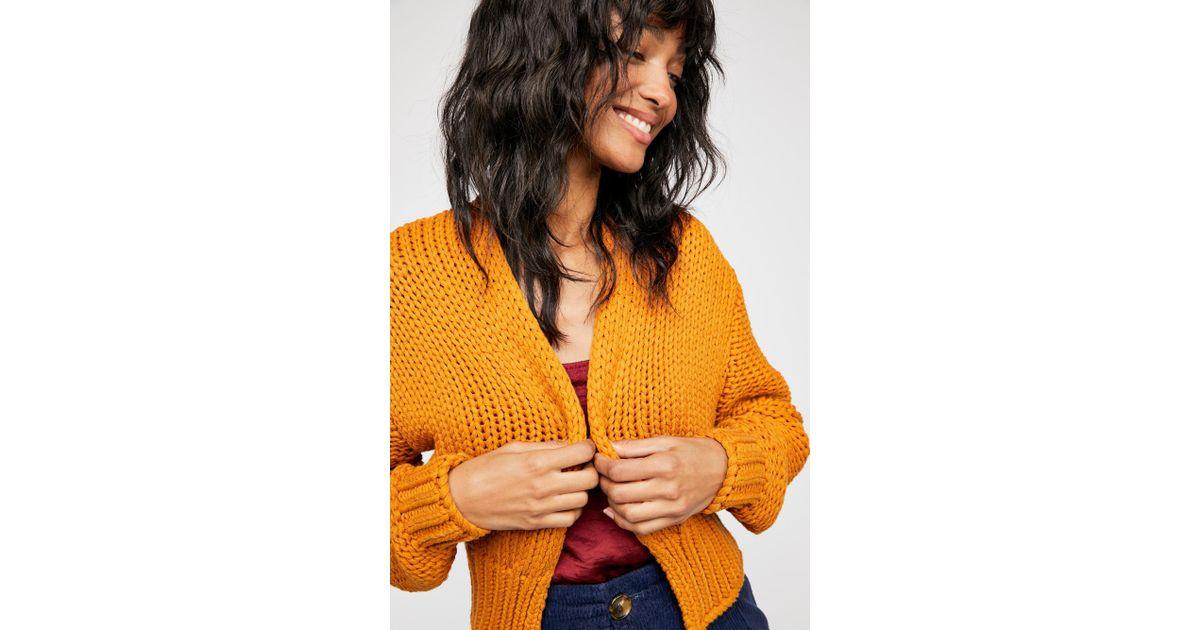 992a19060c Lyst - Free People Glow For It Cardi in Orange