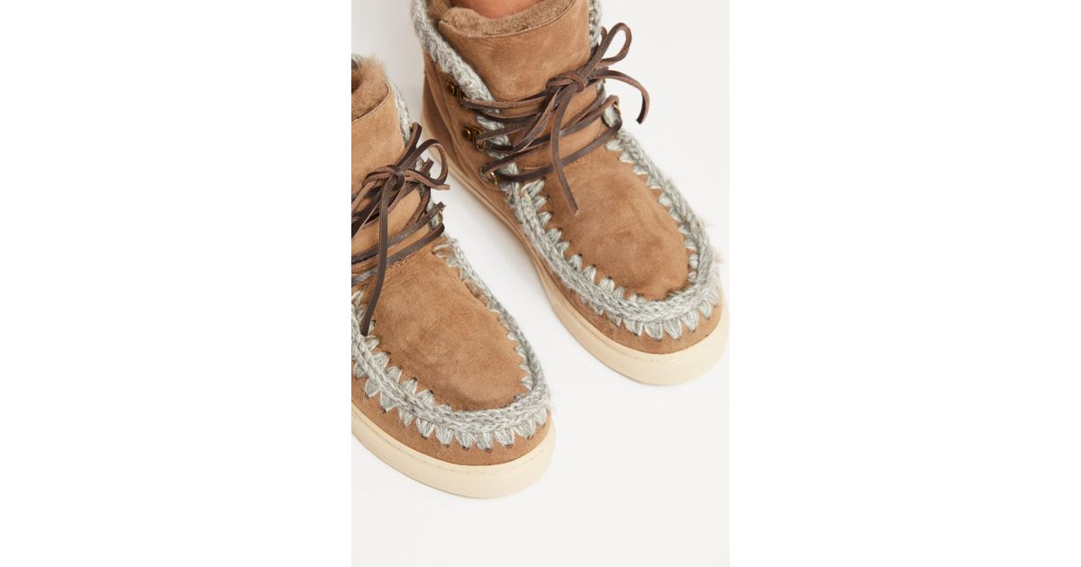 Mou Lace-up Sneaker Boot in Brown