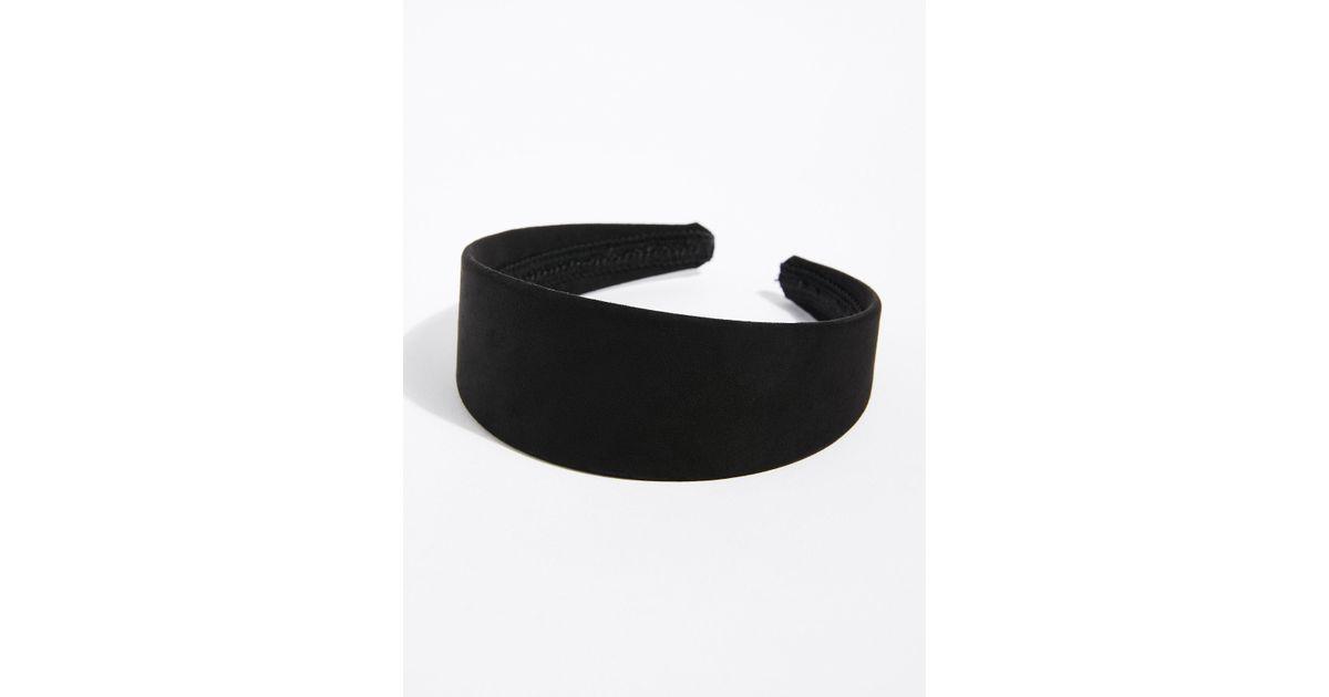 Free People Mod Suede Headband in Black - Lyst 06663081b48