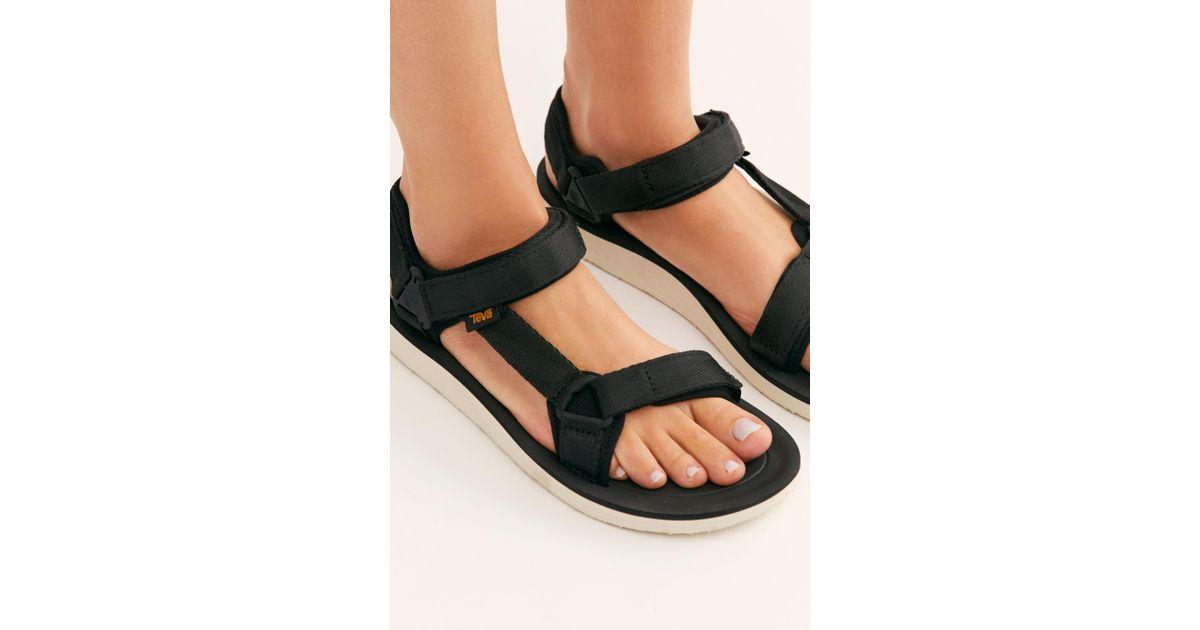 067540452447 Free People Original Universal Premier Sandal By Teva in Black - Lyst
