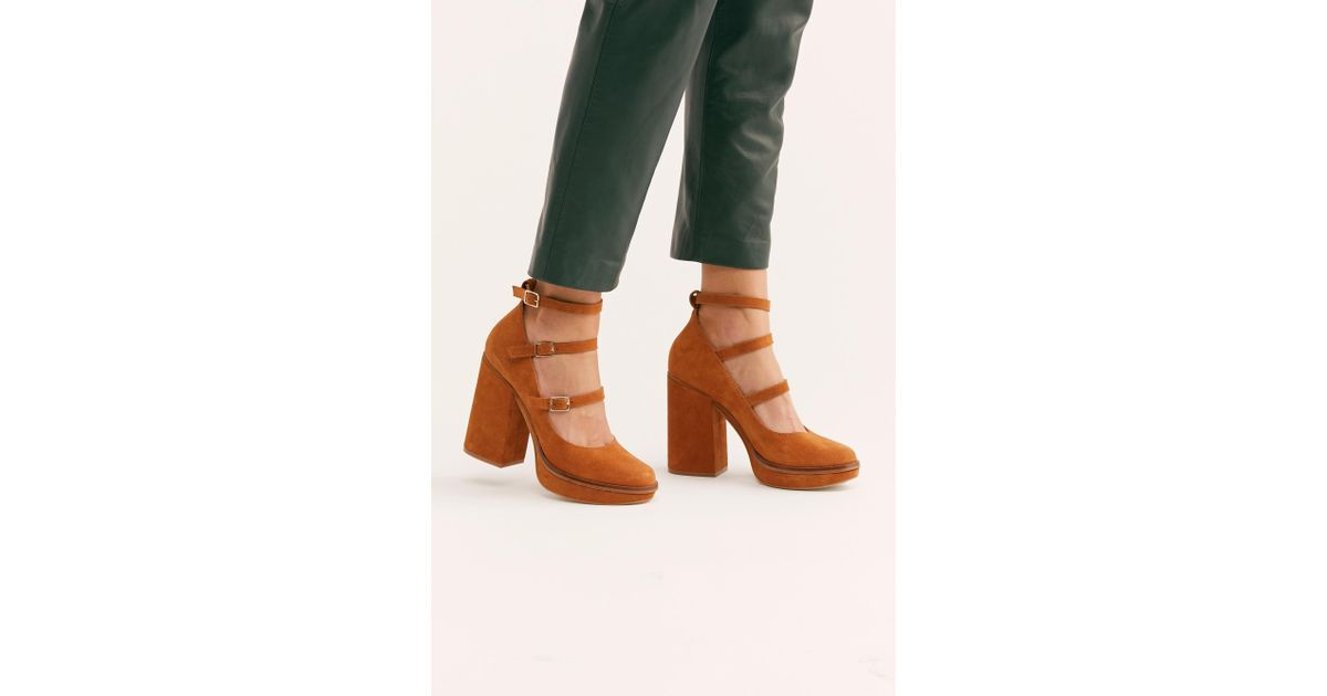 95eb7447c7a Free People - Brown Suede Perfect Pair Platform By Fp Collection - Lyst