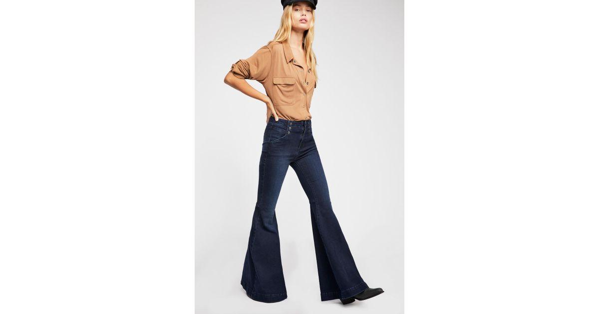 Free Maddox Denim Jeans Blue In Lyst People Flare PUrwT5Pq
