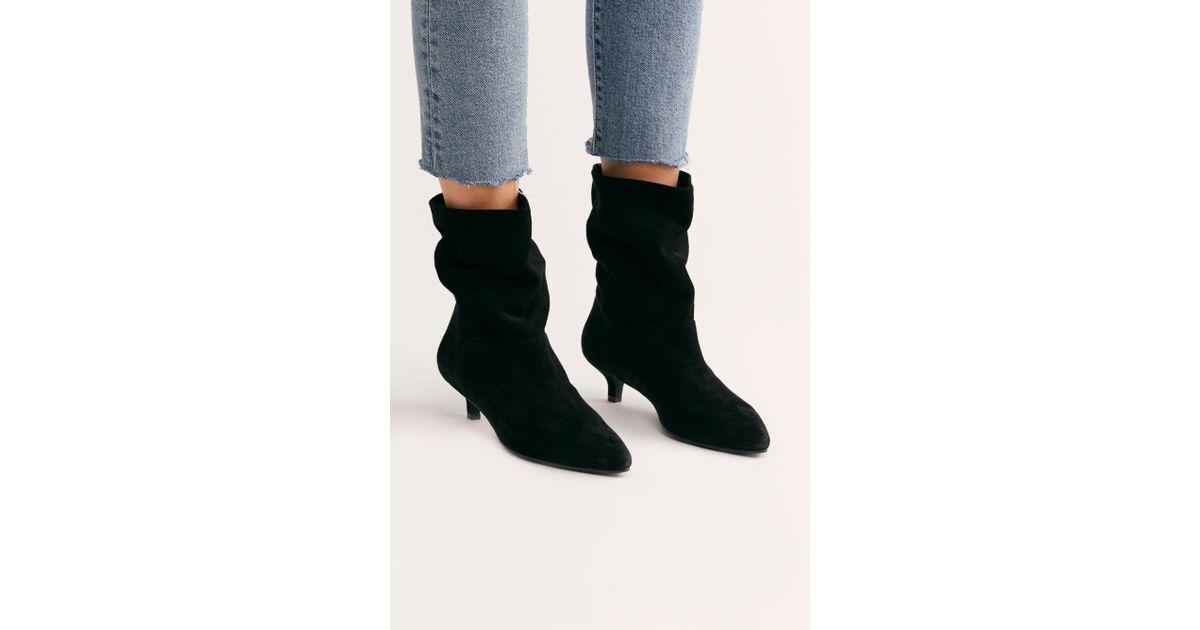 3b557211683 Free People Black Minna Kitten Heel Boot By Vagabond Shoemakers
