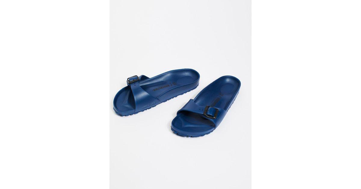 6628cbe8be9 Lyst - Free People Eva Madrid Birkenstock Sandal in Blue