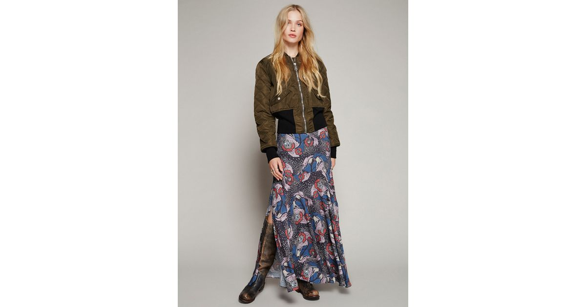4e28497c83 Free People Pebble Crepe Maxi Skirt in Black - Lyst
