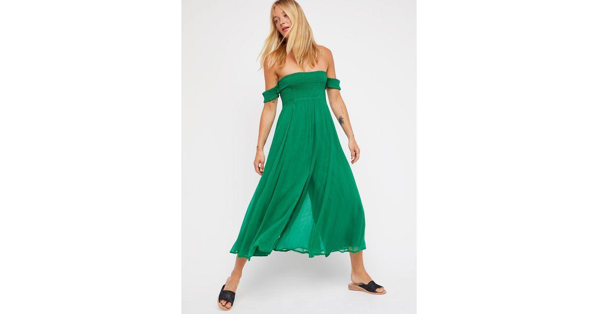 d329b405b40 Lyst - Free People Strawberry Swing Jumpsuit in Green