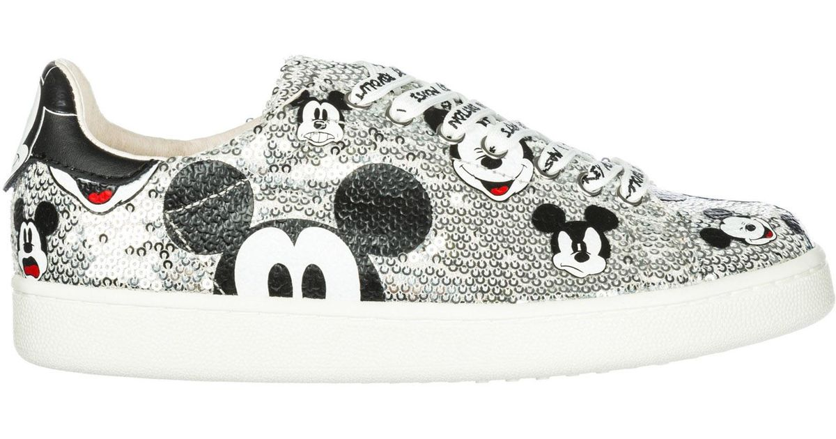 MOA Women's Shoes Leather Trainers
