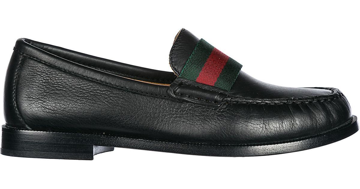 a3a41494b09 Gucci Boys Shoes Baby Child Loafers Moccassins Leather in Black for Men -  Lyst