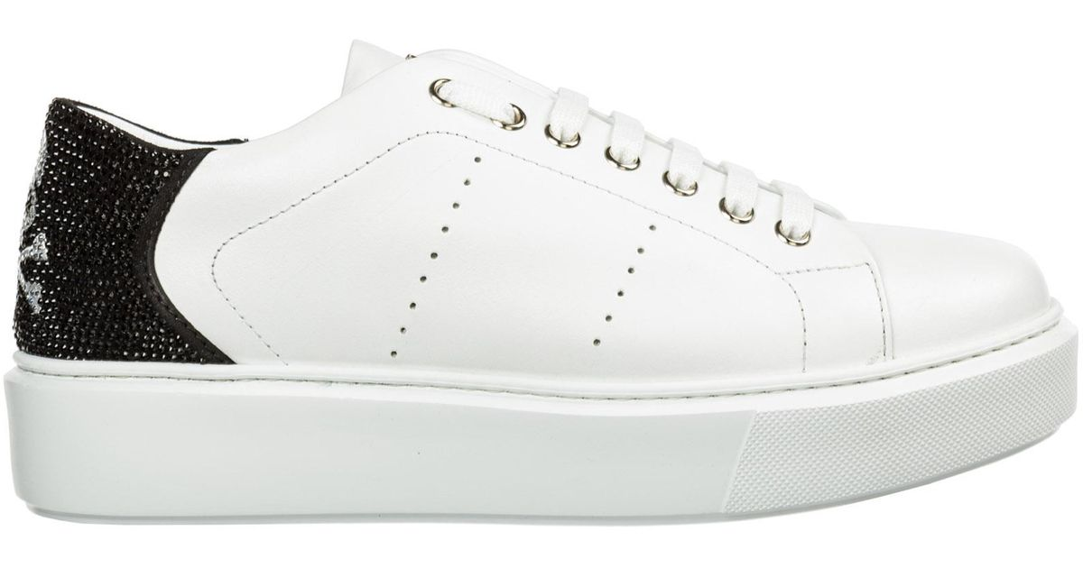 Shoes Leather Trainers Sneakers Skull