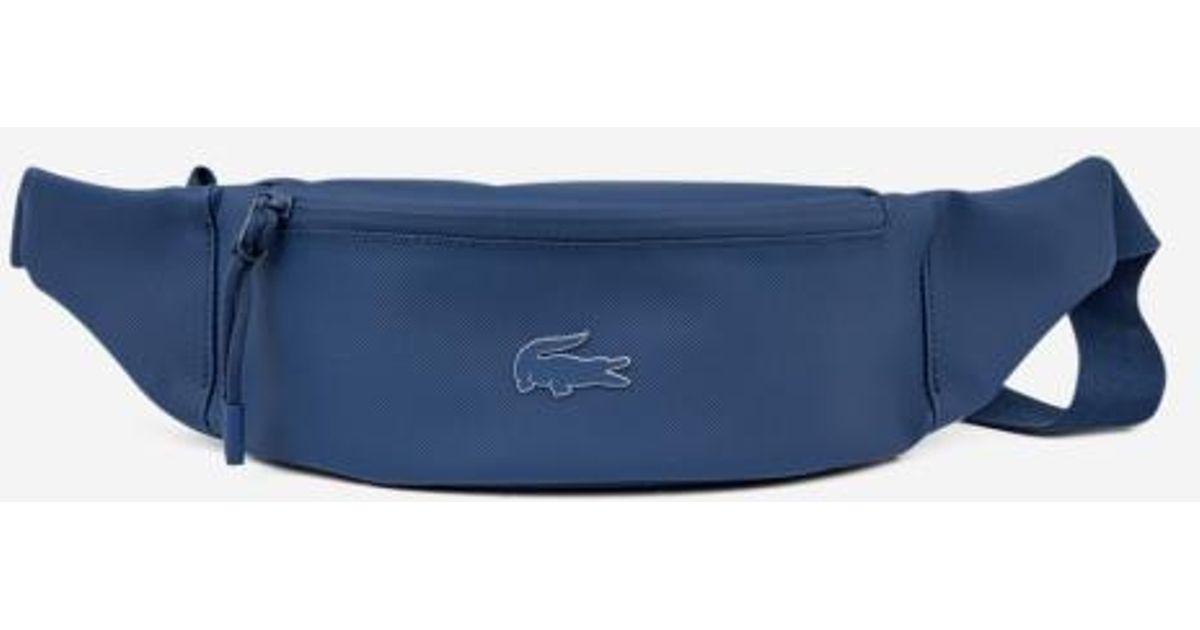 c02473aa86 Sac banane zippé Lacoste pour homme en coloris Bleu - Lyst