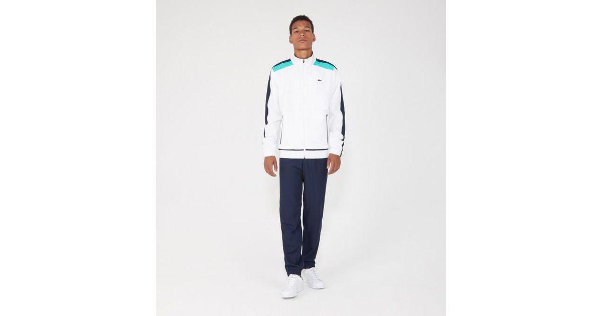 21aab4d8ee6 Lyst - Ensemble survêtement veste et jogging Lacoste pour homme en coloris  Blanc