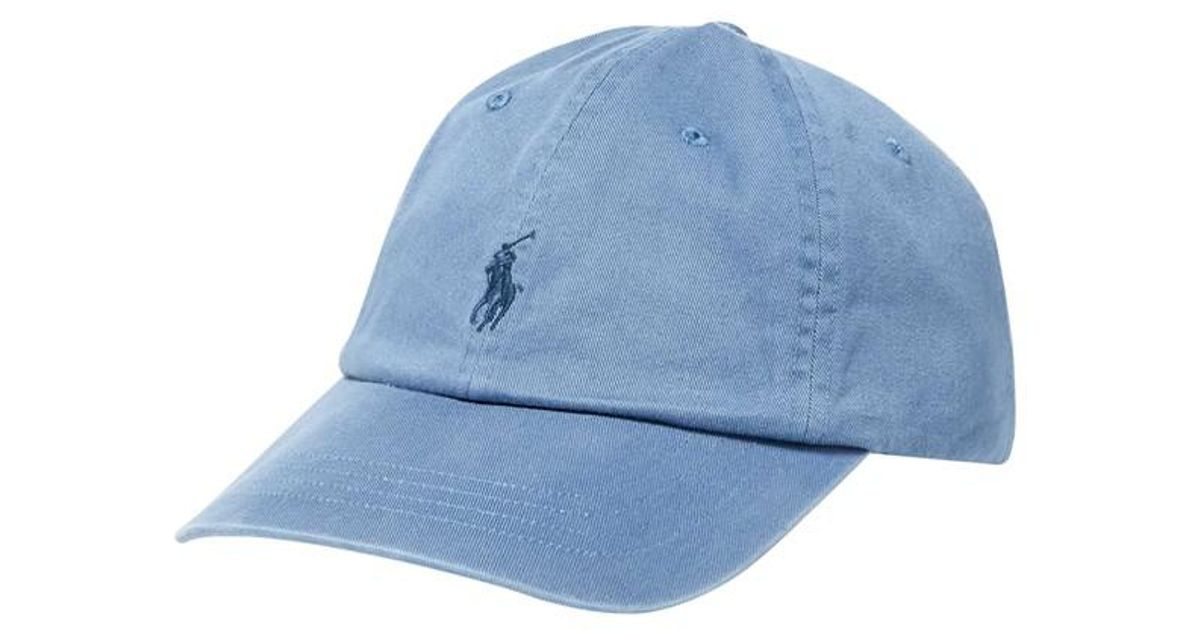 Casquette Coton Ralph Blue Pour En Coloris Polo Homme Lauren SpzMUV