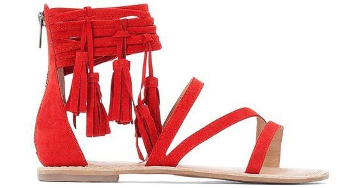 En Sandales Red Redoute Plates À PomponsLa Coloris TlFc13KJ