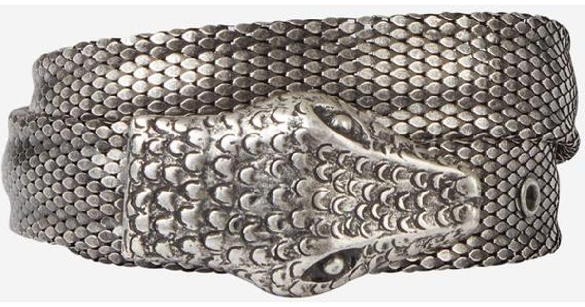 nouveau style 8abc7 d5a10 Ceinture en métal façon python The Kooples en coloris Metallic