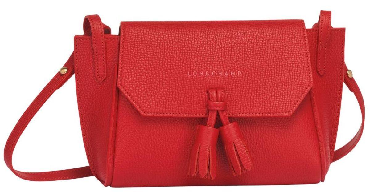 Sac porté travers Pénélope Longchamp en coloris Red