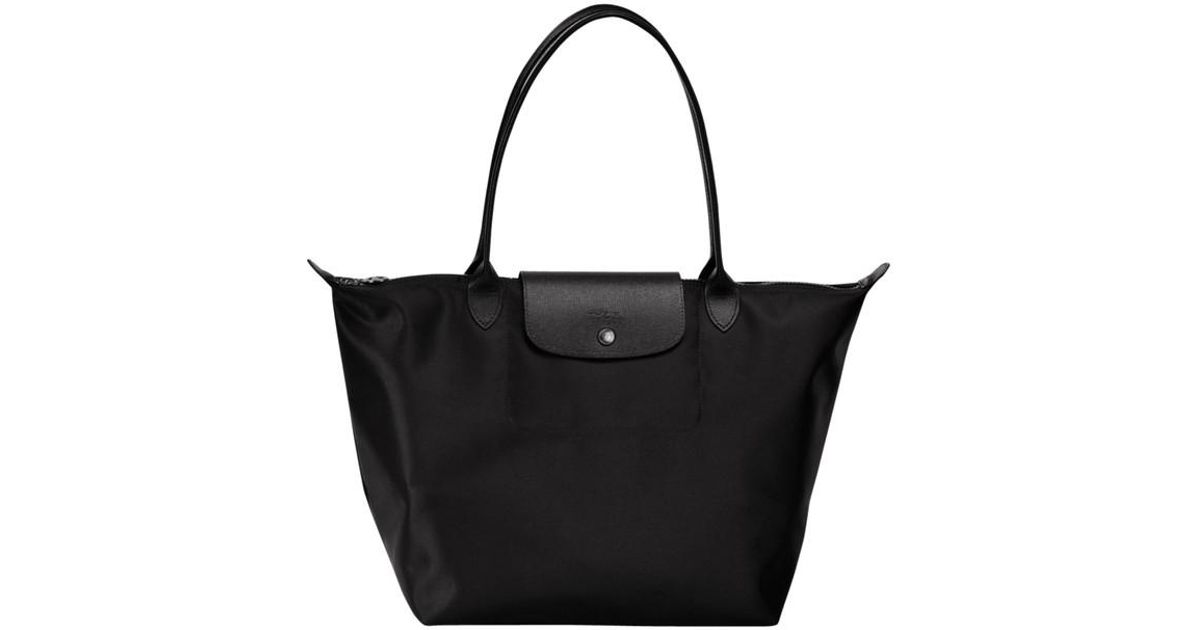 Sac shopping L Le Pliage Néo Longchamp en coloris Black