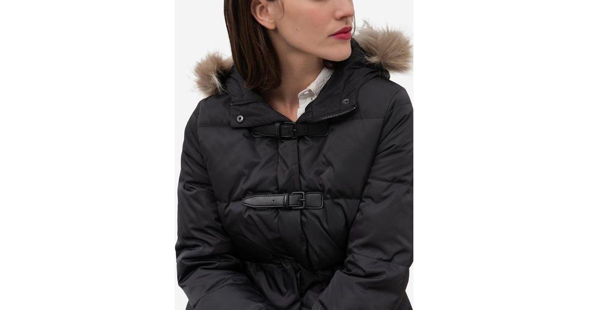 free shipping d9259 a745f Lyst - Doudoune à capuche avec bordure effet fourrure amovible Bergen  CAROLL en coloris Noir