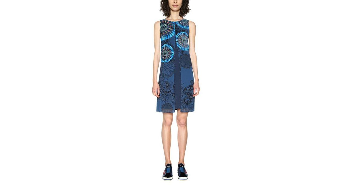 Lyst - Robe Sophie Desigual en coloris Bleu 469844ba8831