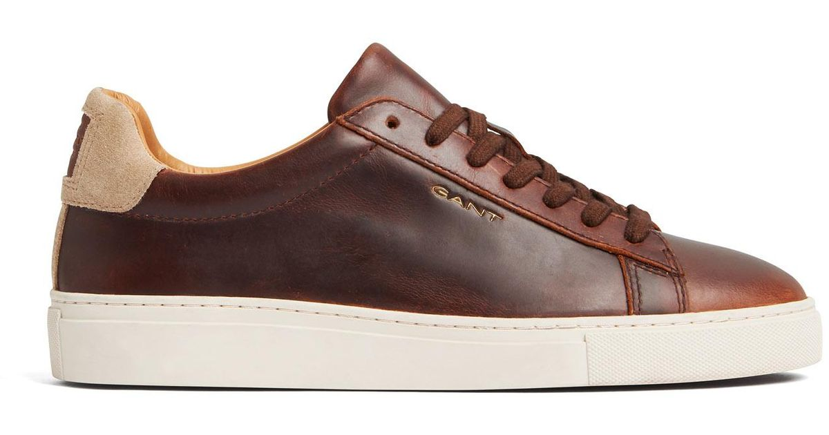 GANT Leather Major Sneakers in Brown