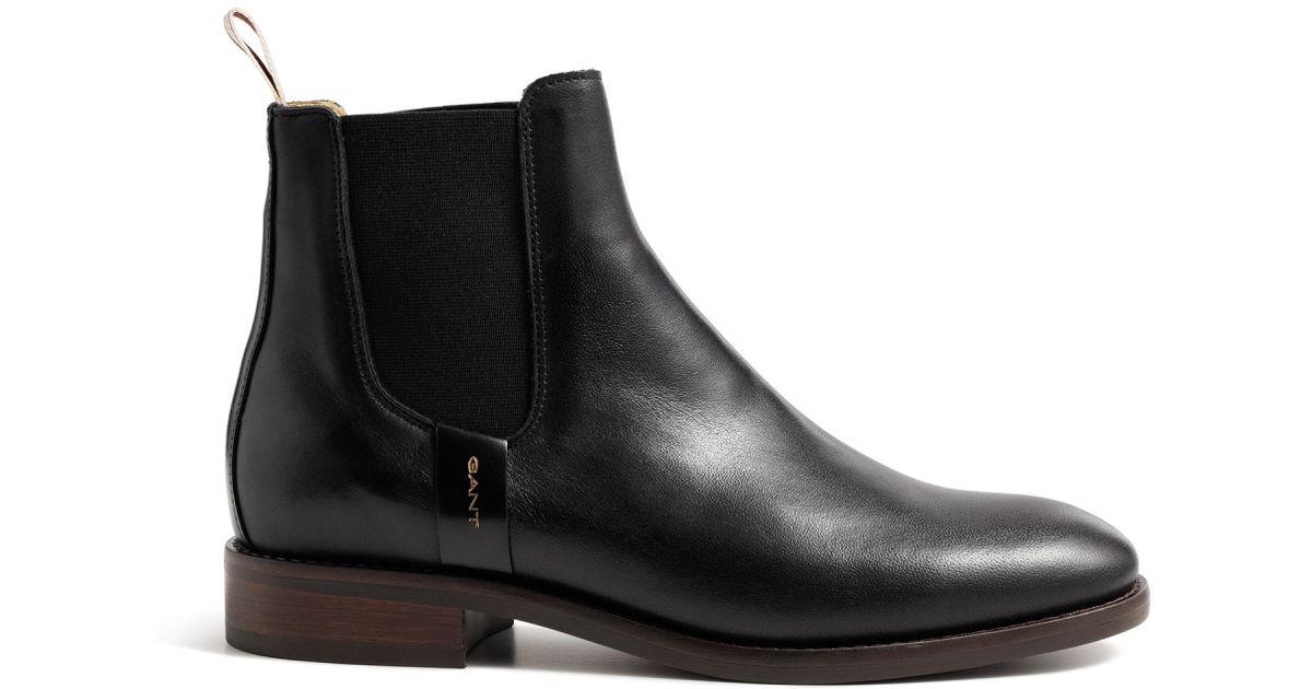 newest d1e7d 36448 Gant Black Fay Chelsea Boots