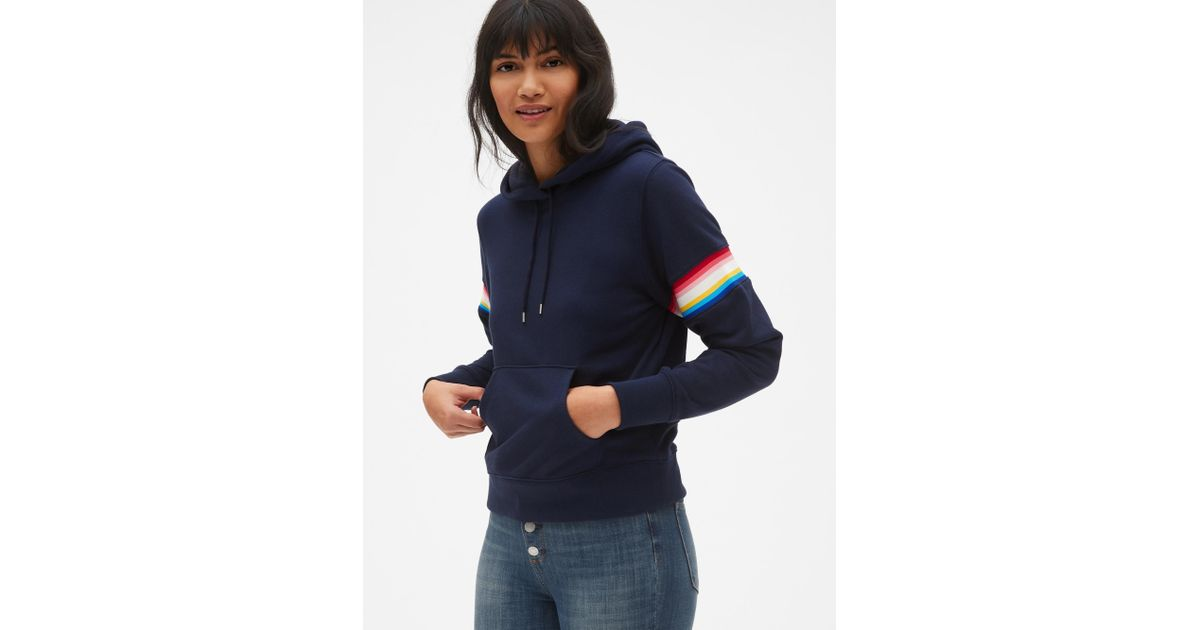 a4fb0439 Lyst - Gap Vintage Soft Pullover Hoodie in Blue