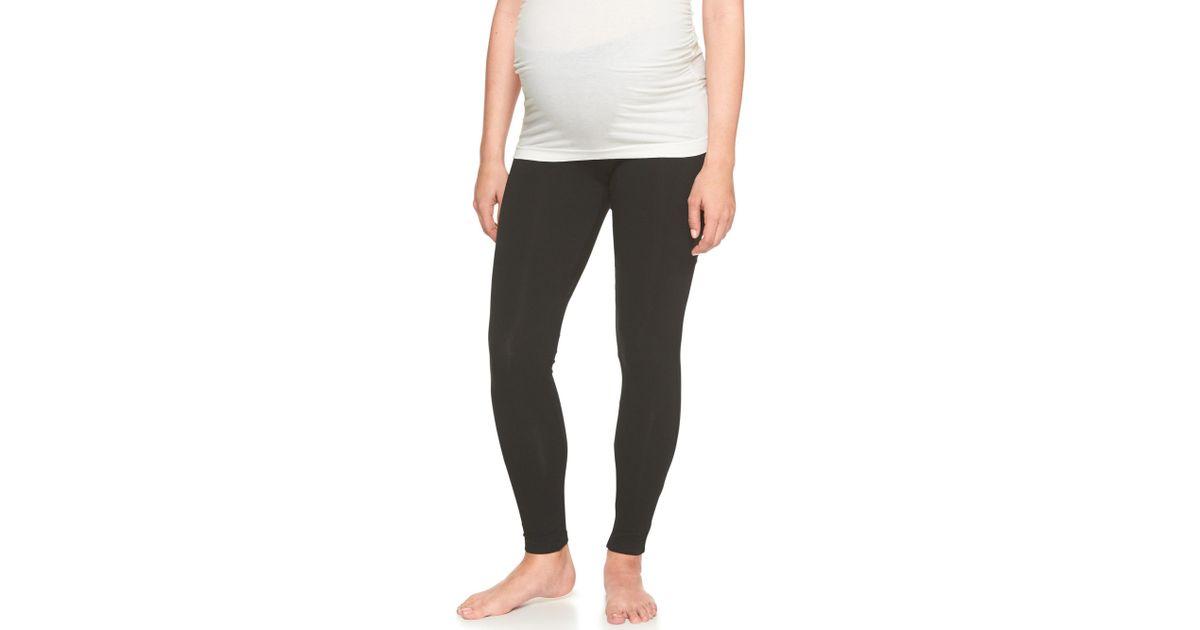 ce59c05bbfce8 Lyst - GAP Factory Maternity Pure Body Low-rise Leggings in Black