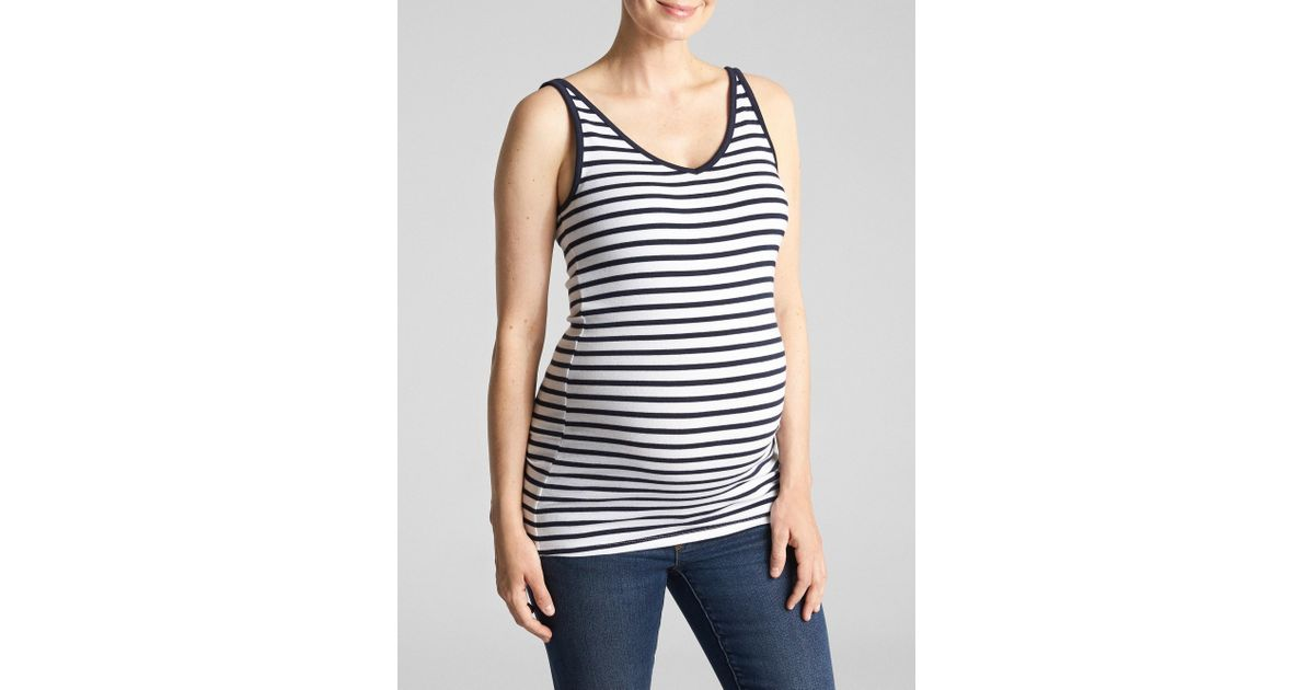 06a84d66336aa Lyst - GAP Factory Maternity Modern V-neck Tank Top in Blue