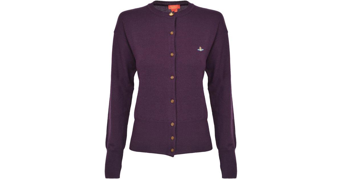 Vivienne Westwood Classic Wool Cardigan Purple in Purple - Lyst 67eee88d2