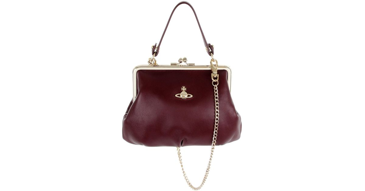 1165a0497d8 Vivienne Westwood Emma Frame Bag 52020003 Burgundy in Purple - Lyst