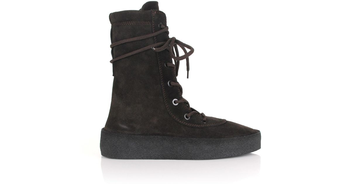 75c5b1451 Lyst - Yeezy Season 4 Crepe Boots Oil in Black for Men