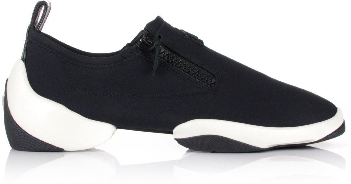 c549f943b0e8b Giuseppe Zanotti Light Jump Zip Sneakers Black/white in Black for Men - Lyst