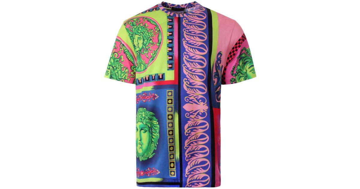 60569ca6 Versace Multi Medusa T-shirt Multi for Men - Lyst