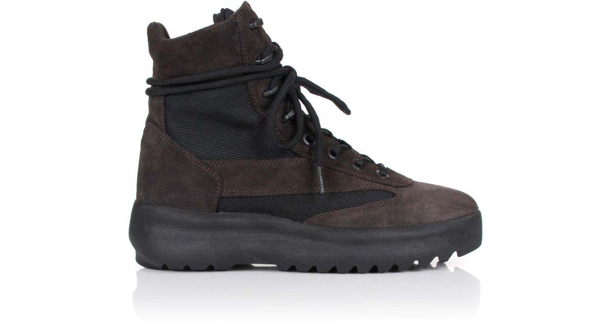 Season For Men Military Lyst 5 Yeezy Oil In Black Boots HeE2YIWD9