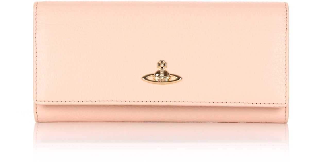 f07e0433f2 Lyst - Vivienne Westwood Balmoral 321387 Long Purse Pink/cream in Pink