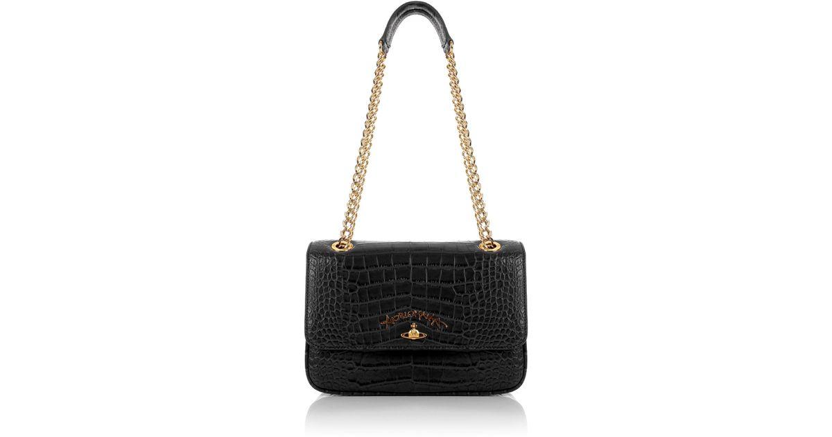 Lyst - Vivienne Westwood Dorset 7273 Evening Bag With Flap Black in Black 50d1e9bb618e3