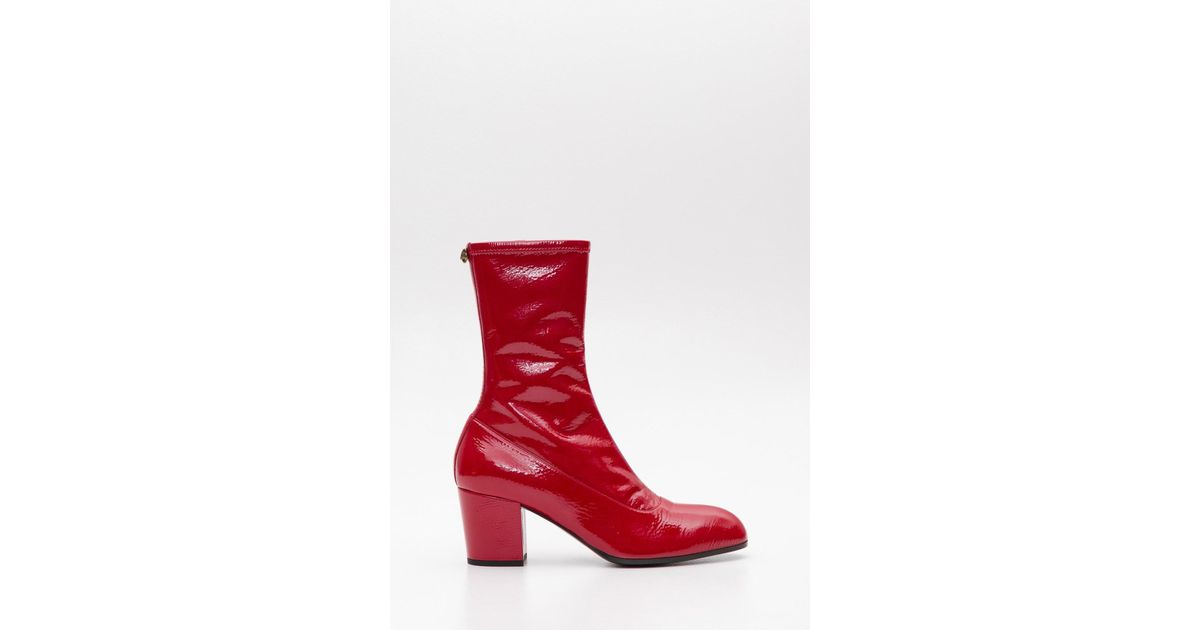 ef113a22470 Gucci Red Patent Printyl Boots for men